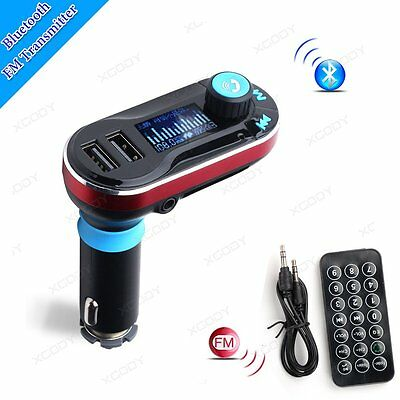 AUX Wireless Bluetooth Car FM Transmitter Dual USB Charger Audio MP3 Player