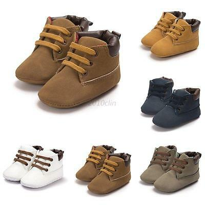 Infant Baby Boy Girl Warm Ankle Boots Toddler Crib Shoes Anti Slip Sneakers 9-12