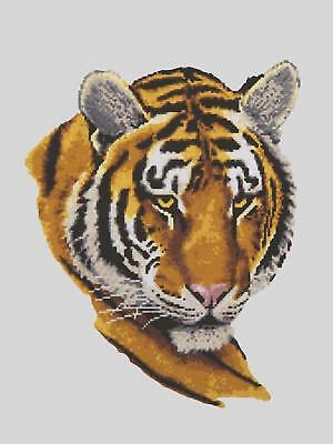 Grafitec Printed Tapestry/Needlepoint Canvas – Tiger Portrait