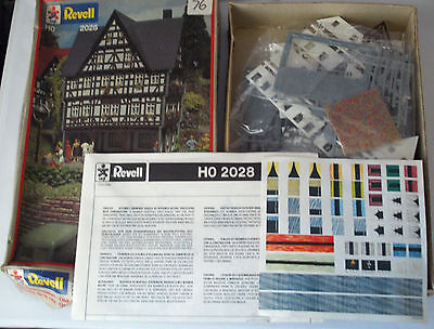 Vintage Revell Ho 2028 Train Plastic House Model Kit 1/87 Scale From 1984 Boxed