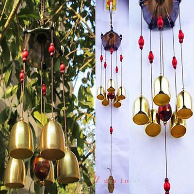 Windchime Wind Chimes Outdoor 5 Bells Copper Garden Home Outdoor Yard Gift Decor