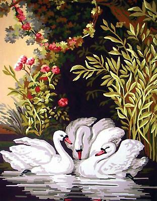 Grafitec Printed Tapestry/Needlepoint Canvas – Swans in the Shade