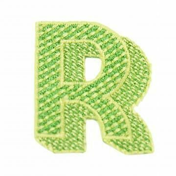 Jennie Maizels Iron-On Alphabet Patch Customising - Letter R - Green