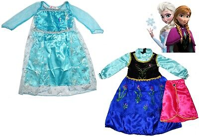 New Size 2-8 Kids Costumes Girls Disney Frozen  Elsa Gift Children Party Dress