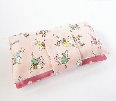 Handmade nappy wipe changing pouch holder wallet- Kidston Fairies pink red fairy