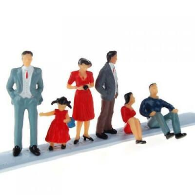 6pc Painted Model Train People Figures Street Passengers 1:30 Layout 3-5.8cm