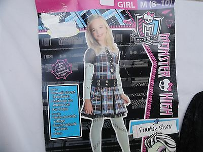 Girls Frankie Stein Monster High classic plaid  Halloween Costume Size Med 8-10