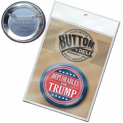 """Deplorables for Donald Trump Button - funny 2020 2.25"""" Pin Back Badge Mike Pence"""