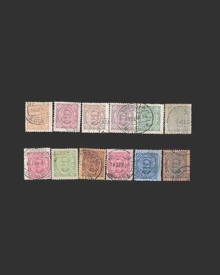 Vintage: Cabo Verde-Portugal1886 Usd Scott # 24-27 28A 29A 30-35 $98.75 1886X74