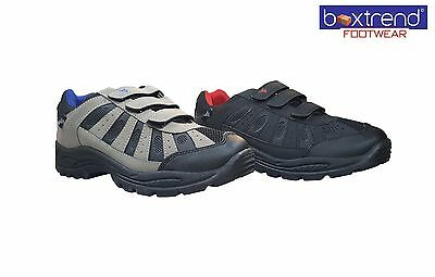 Mens Hiking Boots Trainers Shoes Lace Up Walking Trail Trekking Black Size 7-12