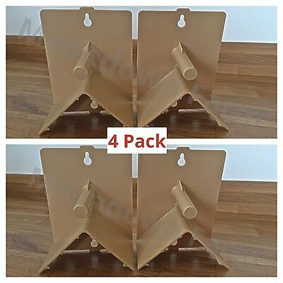 4 x PLASTIC ROOSTING PERCHES WITH COVERS