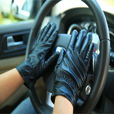 Mittens Warm Winter Gloves Driving Men's Women Leather Gloves Touch Screen Nice