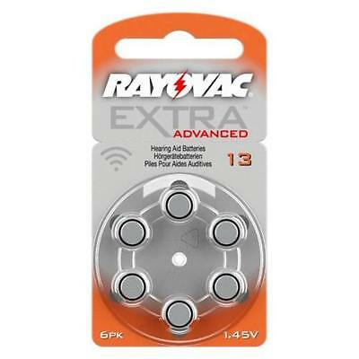 Rayovac Extra MERCURY FREE Hearing Aid Batteries Size 13