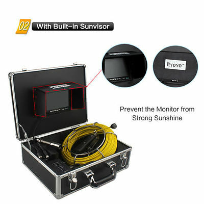 """7"""" LCD 30M Sewer Updated Camera Pipe Pipeline Drain Inspection Snake Cam 8GB"""