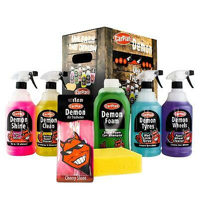 CarPlan DGP100 Demon Car Exterior Tyres Wheels & Shampoo Cleaning Gift Pack