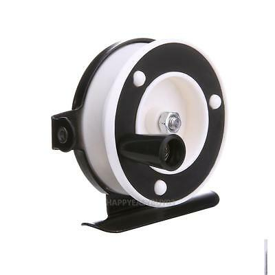 Ice Fishing Mini Baitcasting Pole Line Reel Rod Metal Steel Lightweight Portable