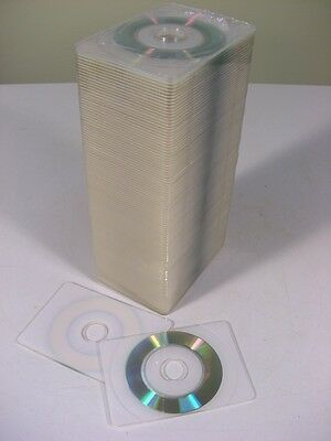 100 pcs BUSINESS CARD CD-R Recordable WHITE PRINTABLE SURFACE 50MB, 54X