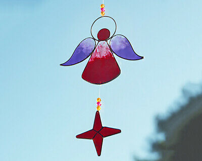 Colourful Guardian Angel Sun Catcher Moblie Fairly Traded From Bali