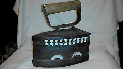 Art Deco Soviet USSR Old vintage Cast iron coal smoothing iron  30's