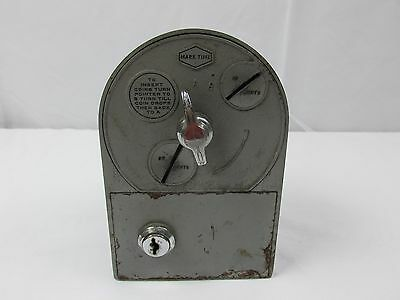 Vintage Old Coin Operated Coin-Op Mark Time Timer Collectible FREE SHIPPING