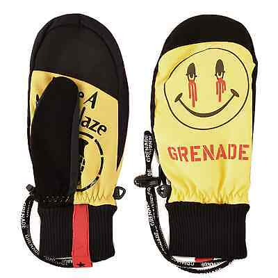 2016 NWT MENS GRENADE BLAZED & CONFUSED SNOWBOARD MITTENS $50 Yellow/Black glove