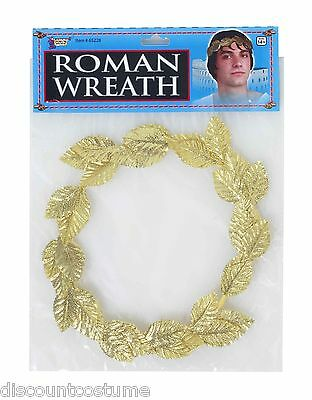 Gold Roman Wreath Headpiece Crown Ancient Rome Greek Goddess Costume Accessory