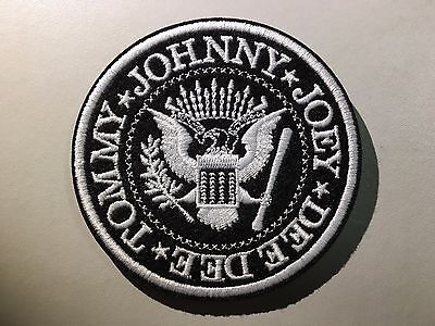 RAMONES Logo Patch - Embroidered Iron On Patch 3 ""