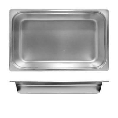 3x Bain Marie Tray / Steam Pan / Gastronorm 1/1 Size, 65mm Deep, Stainless Steel