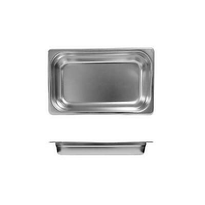 3x Bain Marie Tray / Steam Pan / Gastronorm 1/4 Size 65mm Deep Stainless Steel