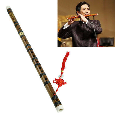 Chinese Traditional Musical Instrument Handmade New Bamboo Flute in D Key New