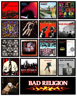BAD RELIGION 18 pack album cover discography magnets lot - age of unreason