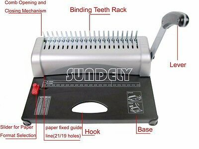 Brand New Paper Punch Binder Binding Machine 450 Sheets Fast Ship High quality