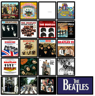 BEATLES 20 pack album cover discography magnets lot (Abbey Road Revolver Let it