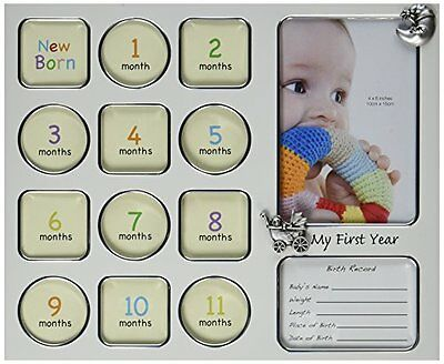 Fashioncraft My First Year Baby Photo Collage Frame New