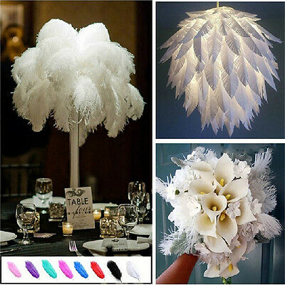 1/10X Wholesale High Quality Natural  Ostrich Feathers Wedding Party 15-30cm JB