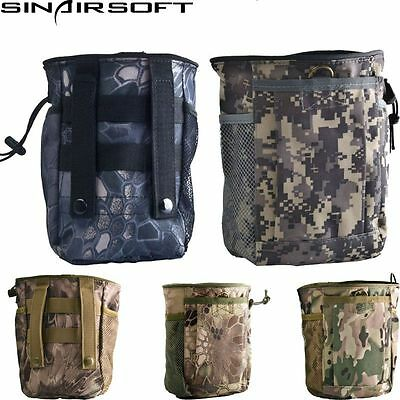 Tactical Military Airsoft Hunting Camo Molle Magazine Dump Drop Small Pouch Bag