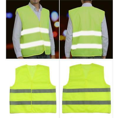 Hi Vis Work Safety Vest Fluorescent Yellow/Red Reflective Strip Day Night S/M/L