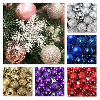 24pcs Christmas Xmas Tree Ball Bauble Hanging Party Ornament Decoration HOT