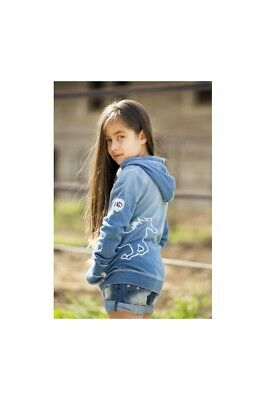 Kinder Sweetjacke Horseware light denim NEU