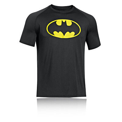 Under Armour Alter Ego Batman Hombre Negro Running Manga Corta Camiseta Top