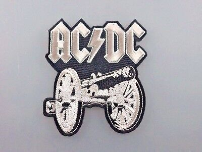 Embroidered Patch Iron Sew Logo Emblem Custom Hardcore Rare AC DC ROCK NEW