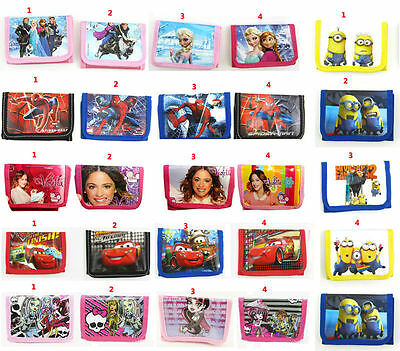 U Violetta Frozen Big Hero Minions McQueen Monster High Girl Kids Purses Wallets