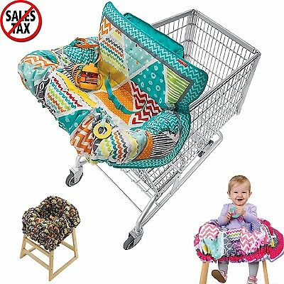 Shopping Cart Cover For Baby 2-in-1 Grocery Basket & High Chair Protector
