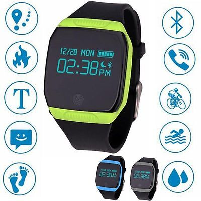 E07S Bluetooth 4.0 Wrist Smart Watch Sports Tracker Fitness IP67 for Android IOS