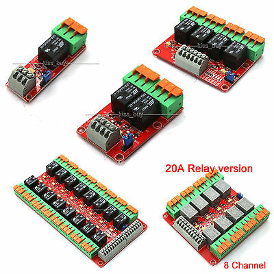 1/2/4/8/16 Channel 20A Relay Control Module for Arduino UNO R3 Raspberry Pi