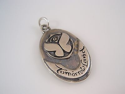 tomorrowland music Festival party dj solid Sterling Silver 925 Pendant