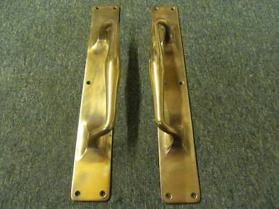 PAIR of RECLAIMED ANTIQUE / VINTAGE BRONZE DOOR PULL - HANDLES -M105b-.