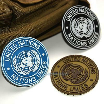 UN United Nations U.N. Shoulder Patch Tactical Army Military Badge Circle  TN2F