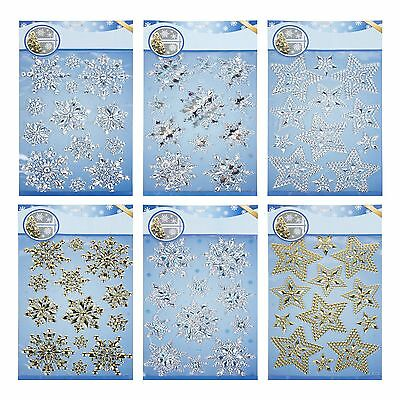 Large Christmas Snowflake Star Self-Adhesive Window Decoration Stickers