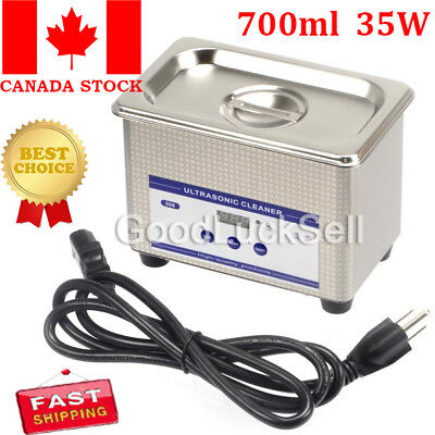 700ml Ultrasonic Cleaner Ring Bath Digital Timer Industrial Cleaning Equipment C